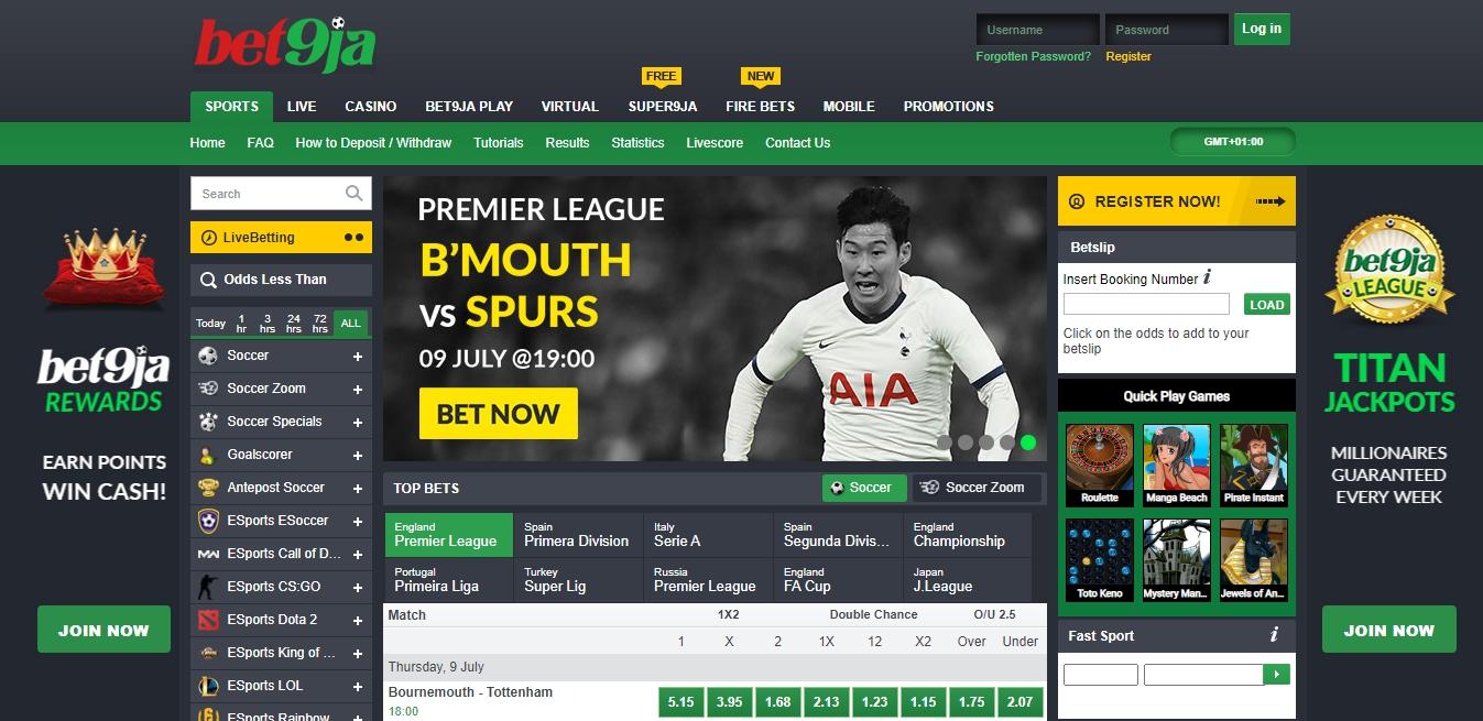Bet9ja Nigeria sport betting