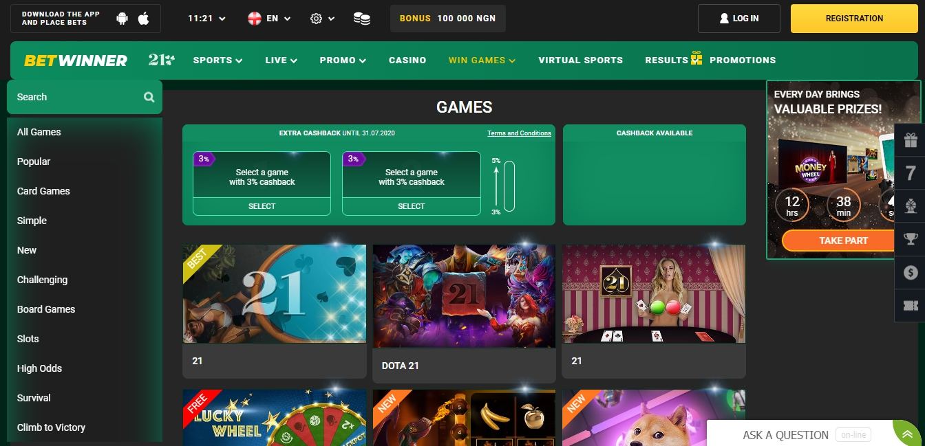 Betwinner official website