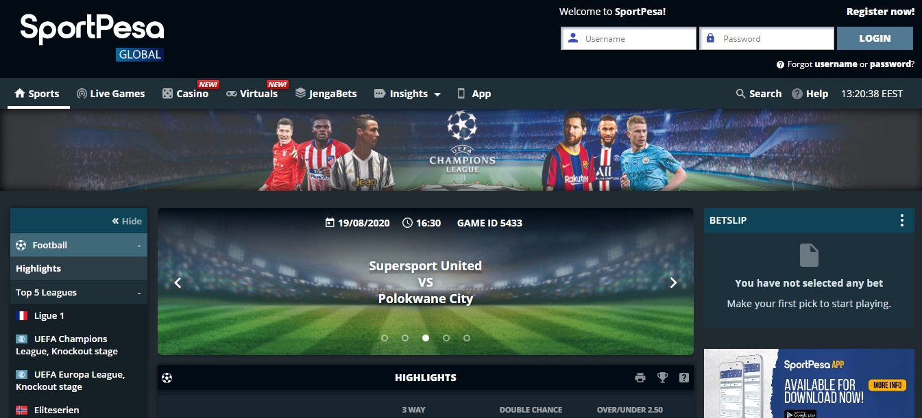 login SportPesa